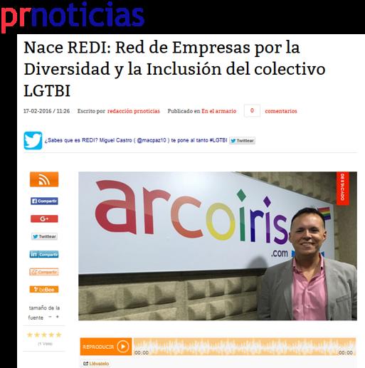 Nace REDI en prnoticias Red Empresarial Diversidad Inclusión LGBTI